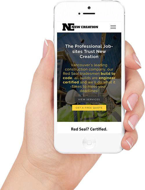 iphone screenshot of new creation